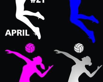 Volleyball Decal Etsy - Custom sport car magnetsvolleyball car magnet custom magnets for volleyball players