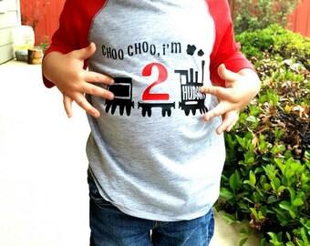 Train Birthday Shirt - Chugga Chugga Two Two - Choo Choo I'm Two - Train Birthday Shirt - Choo Choo Train Birthday Shirt  2nd Birthday Shirt