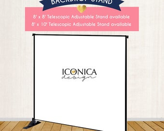 Upgrade your Backdrop purchase with a Backdrop Stand  - 8'x8' or 8'x10' backdrop stand available at checkout