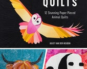 Animal Quilts, paper piecing animal designs - David & Charles By Juliet van der Heijden - Book and Pattern CD