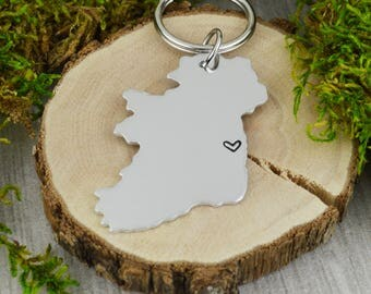 Ireland Keychain - Best Friend Gift - Couples Gift - Long Distance Love