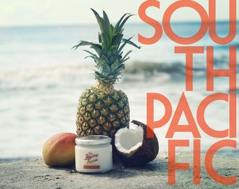 South Pacific ~ Small Batch 12oz Scented Soy Jar Candle, Tropical Fruit Punch