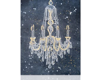 Genial Modern Painting Chandelier Gold Glamour   Ready To Hang   Wall Art Decor   Wall  Art