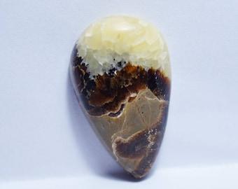 Septarian Gemstone, 32x19x8 mm Septarian Cabochon, Septarian Stone, Pear Cabochon Septarian Gems