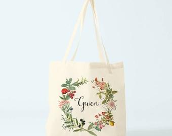 Canvas bag, Gwen, name, custom tote bag, gift bridesmaid, groceries bag, novelty gift, gift coworker, gift woman, gift sister.