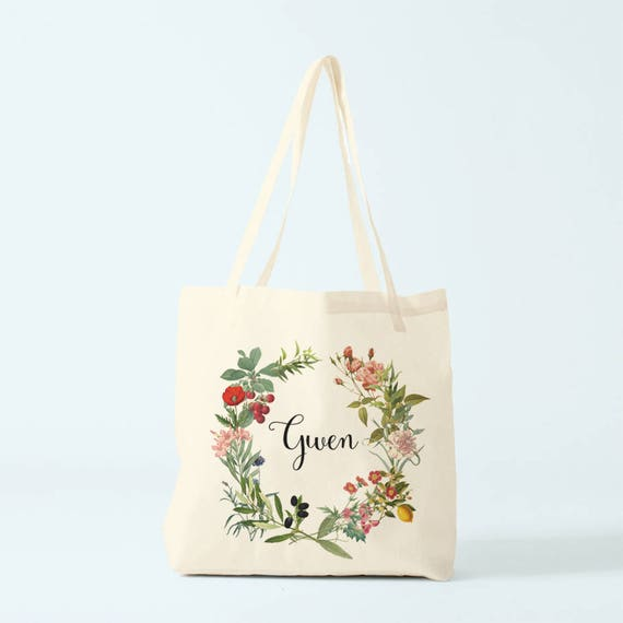 Canvas bag, Gwen, name, custom tote bag, gift bridesmaid, groceries bag, novelty gift, gift coworker, gift woman, gift sister.