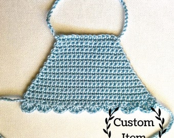 Hazel Baby Crop Top - Cotton / Crochet Top / Baby Halter Top / Photo Prop