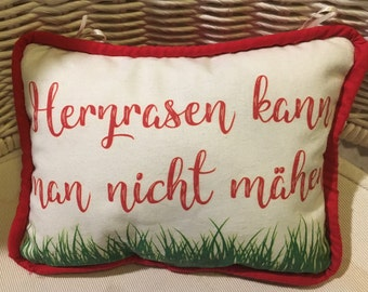 Decorative pillows with German humorous sayings
