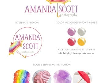 Logo Design Branding, Photography Logo, Small Business Logo, Custom Logo, Logo Design Package, Affordable Logo, Umbrella Logo, Logo Branding