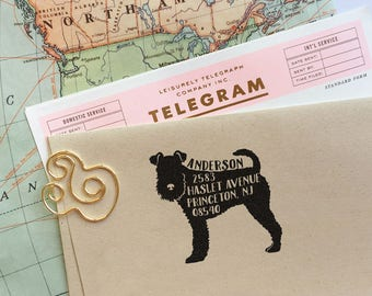 Dog Address Stamp, Custom Address Stamp, Fox Terrier Return Address Stamp, Self Ink Stamp, Wedding Stamp, Doglover Stamp Housewarming Gift,
