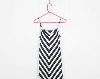 The Chevron Spaghetti Strap Maxi Dress