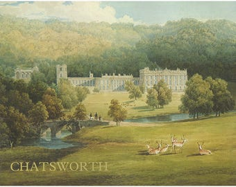 Chatsworth: The Home of the Duke and Duchess of Devonshire. Derbyshire Countryside. Beautifully Illustrated. Guide to House, Garden (28017)