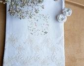 Personalized Monogram Cotton lace bag for babyshower gift, white wedding favors bag, inc 10 x 14 unique baptism christening girly girl bag