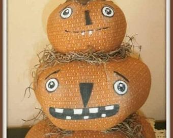 "14"" high primitive pumpkin stacker"