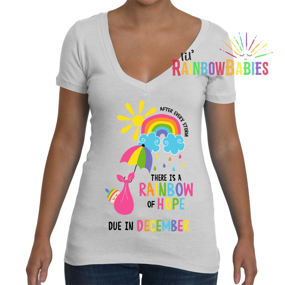 Rainbow Of Hope Pregnancy Shirt
