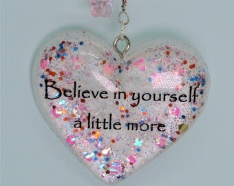 Inspirational/ Motivational Pastel Key chain/ Purse charm