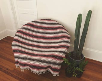 Mexican Blanket. Mexican Blanket Rug. Vintage Blanket. Vintage Rug.