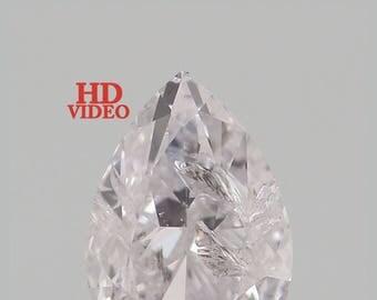 0.195 Ct Natural Loose Diamond Cut Pear Light Pink Color 4.50X3.20X1.90 MM K2796
