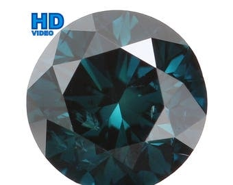 5.00 MM 0.53 Ct Natural Loose Diamond Cut Round Shape Blue Color SI1 Clarity L1168