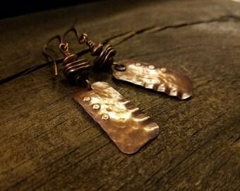 Rustic Earrings, Copper Earrings, Boho Earrings, Handmade Earrings