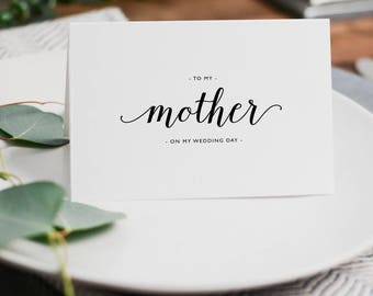 Wedding Card To My Mother, To My Parents on My Wedding Day, To My Mom Card, Thank You Wedding Card, To My Mother On My Wedding Day Card, K3