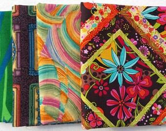 Fat Quarters. Collection of Four, Bright, 100% Cotton Quilt Fabric Fat Quarters