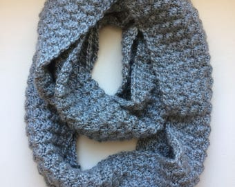 Infinity Scarf in Heather Gray