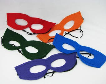 Mask Party Pack, Five Reversible Felt TMNT Inspired Masks