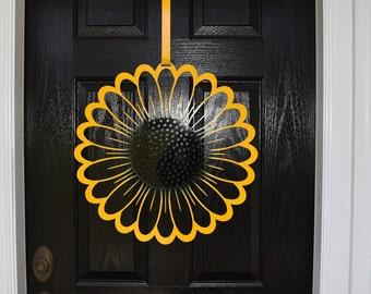 Monogram Door Wreaths Hangers Custom Metal By
