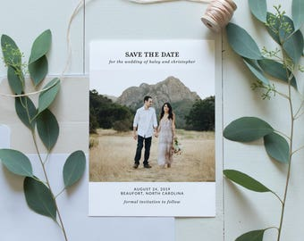 Photo Save The Date | Printable Save The Date | Modern Save The Date | Minimalist Engagement Announcement | SD-024