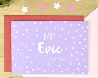 Baby girl first Christmas card, first Christmas card for baby, baby girl first christmas card, baby boy christmas card