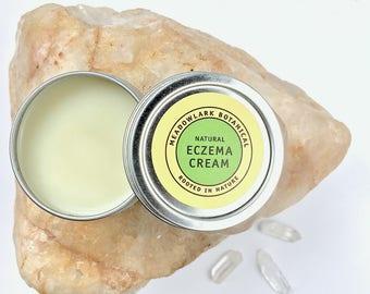 Organic Eczema Cream w. Calendula   Natural Eczema Salve for Baby + Adults   Vegan Eczema Cream   Healing Eczema Salve   Eczema Lotion