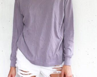 Medium   Lavender Purple Mock Neck Long sleeve
