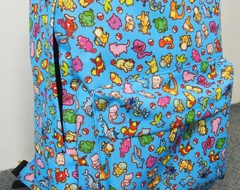 Backpack Bag ~ All Over Pattern ~ Zelda / Pokemon / Animal Crossing / Studio Ghibli / Overwatch