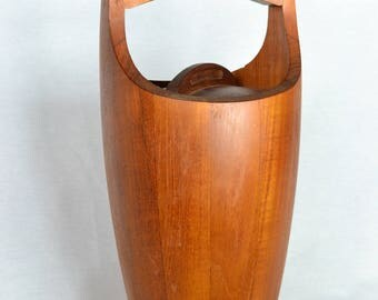Mid Century Modern Dansk Teak Ice Bucket by Jens Quistgaard
