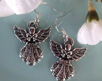 Angel wing earrings, angel wing jewelry, angel earrings, handcrafted jewelry, handcrafted, handmade, trendy jewelry