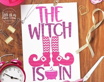 Witch Is In svg, Witch svg, Halloween svg, svg Halloween, Halloween Cut File, eps, dxf, png Cut Files for Silhouette for Cricut