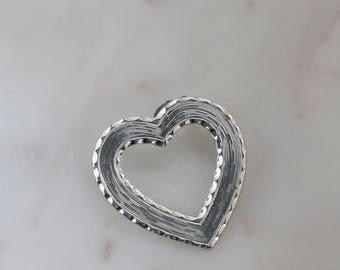 Silver Heart Brooch - Heart Silver Pin