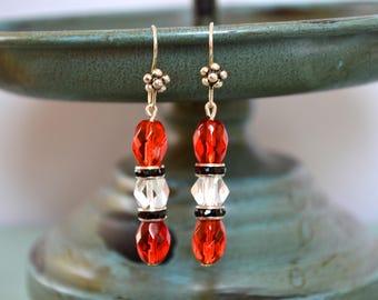 Dangle earrings, Handmade earrings, Vintage earrings, Boho earrings, Gift idea, Gift under 20 dollar, Elegant earrings, Earrings, Wedding.