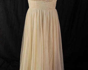 Sale... Mother of the Bride, evening gown size 12 Champagne