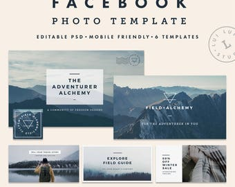 Facebook Cover Photo | Social Media Template | Facebook Timeline | Minimalist Branding | Instant Download | Editable PSD | Field+Alchemy