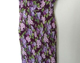 Floral 1990s Dress