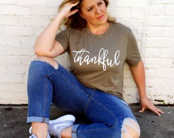 Thankful Shirt, Thankful Mama, Thankful T-Shirt, Grateful Thankful Blessed Shirt, Blessed Mama, Thanksgiving tshirt, Cute Fall Clothes