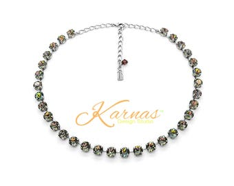 CRYSTAL TWILIGHT 8mm Necklace Made With Swarovski Crystal *Pick Your Finish *Karnas Design Studio *Free Shipping* Stunning!