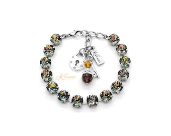 CRYSTAL TWILIGHT 8mm Bracelet Made With Swarovski Crystal *Pick Your Finish *Karnas Design Studio *Free Shipping