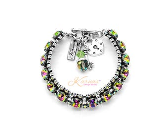 FRUITS OF FALL 8mm  Bracelet Made With Swarovski Crystal *Pick Your Finish *Karnas Design Studio *Free Shipping*