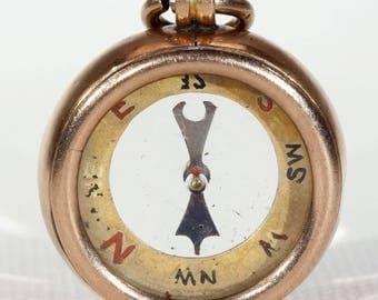 Antique Victorian Gold Compass Pendant Fob
