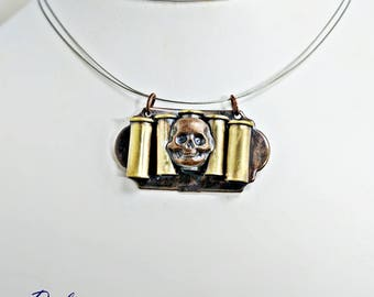 Westworld-inspired Skull and Bullet Necklace........................................................west southwest ammo oddities curiosities