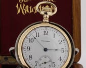 Waltham 14K Gold Pocket Watch with Case/Holder