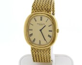 18K Patek Philippe Geneve Wrist Watch 18K Yellow Gold